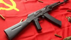 Ak47 Assault Rifle And Ussr Flag 2880×1920