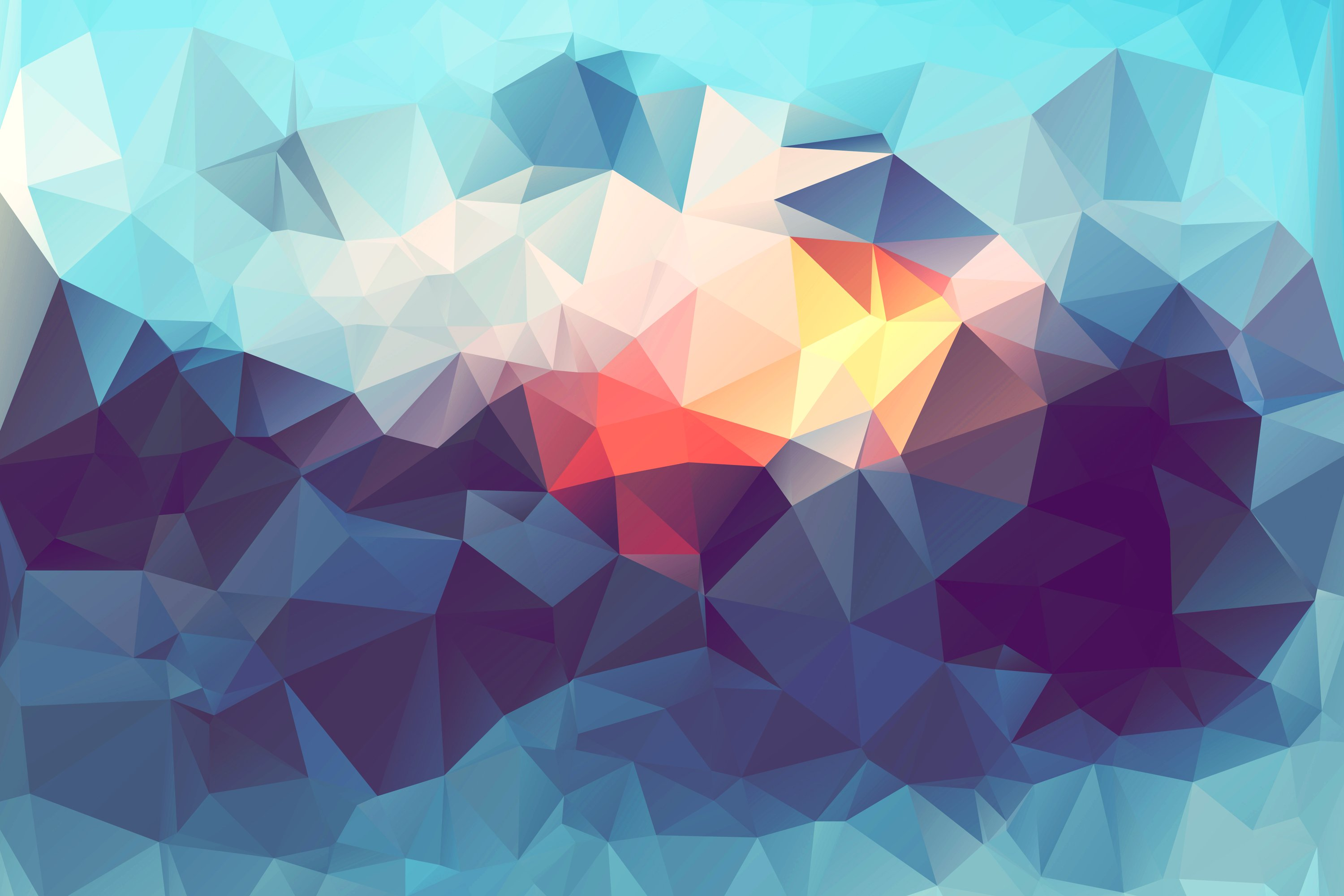Abstract Low Poly High Definition Wallpaper