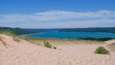 Ar Sand Dunes And Glen Lake Michigan