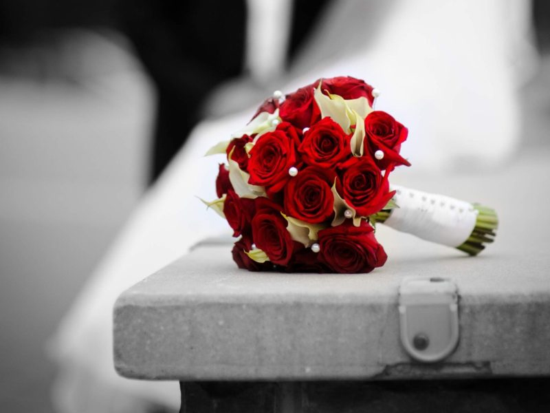 Bridal Bouquet Red Flowers