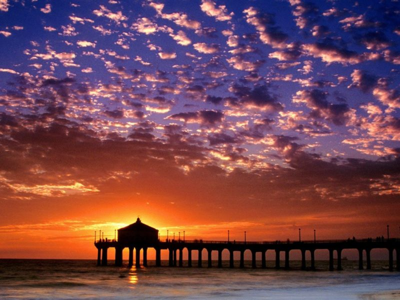 Manhattan Beach Wallpaper: Colorful Sky Manhattan Beach