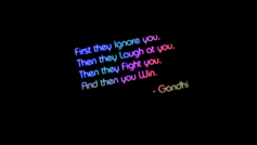 Gandhi Quote Black Background