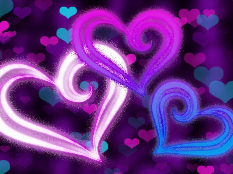 Glow Hearts Art