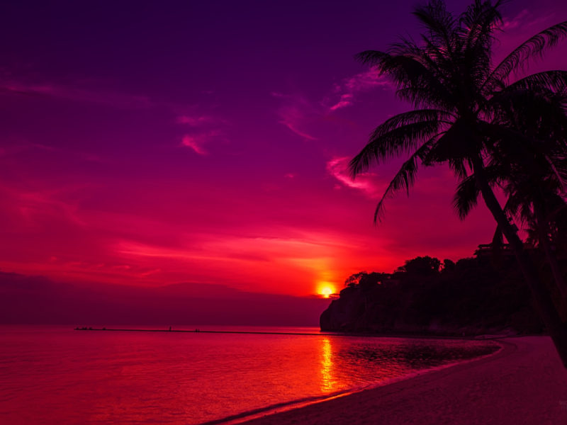 Thailand Beach Sunset Wide