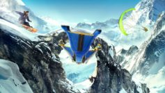Wingsuit Snowboarding Paragliding 5k 1366×768