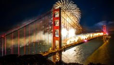 Bridge New Year San Francisco Boats Bridges 2560×1600 Wallpaper