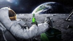 Astronaut Drinks Beer Humor