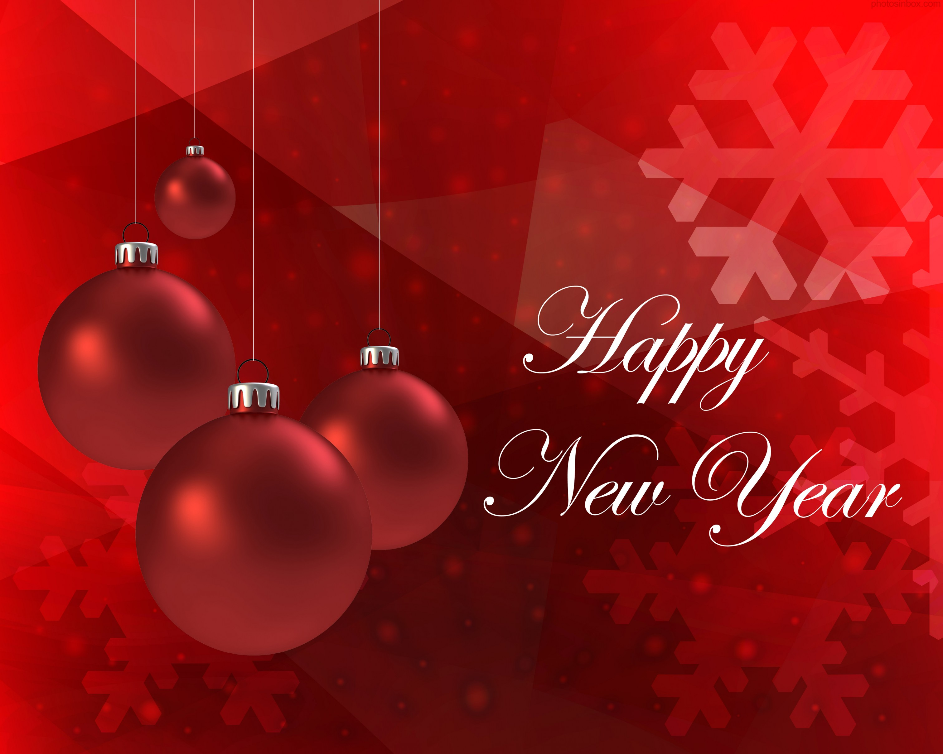 Happy New Year Greeting Cards - High Definition Wallpaper