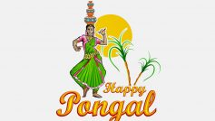 Happy Pongal Dancing Woman