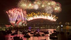 New Year's Eve fireworks show at Sydney Harbour Bridge
