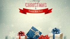 Merry Christmas And Happy New Year Presents 2560×1600