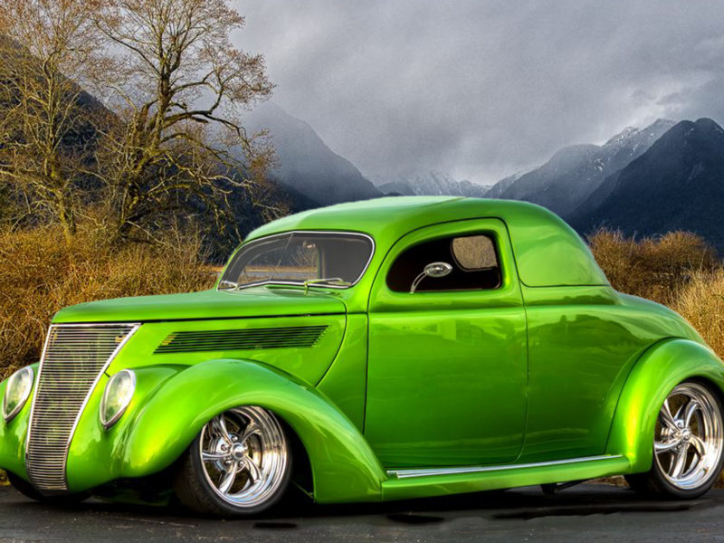 1936 Ford Coupe (lime)