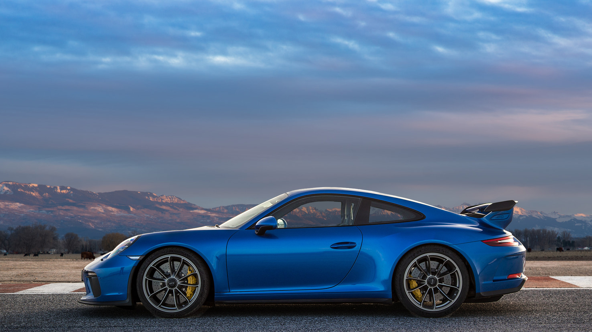 Porsche 911 Gt3 Rs Blue High Definition Wallpaper