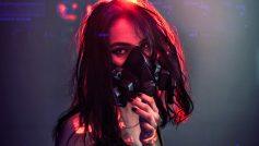 Sci Fi Cyberpunk Girl With Gas Mask